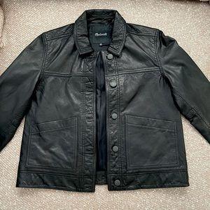 Washed Leather Chore Jacket